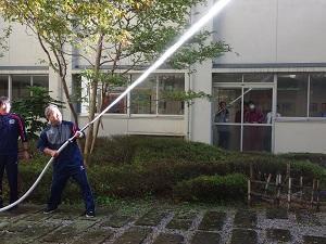 放水訓練の様子