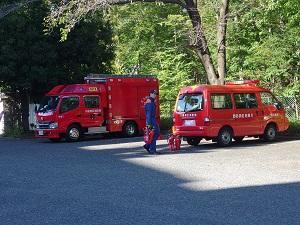 消防車の写真