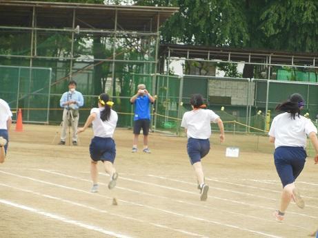 100m,200m走