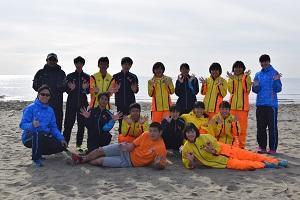 幕張海浜公園での練習(集合写真)