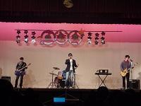 教員のバンドステージ