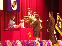 表彰されている生徒